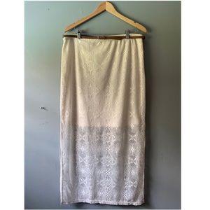 🛍Bobbie Brooks White Overlay Lace Skirt